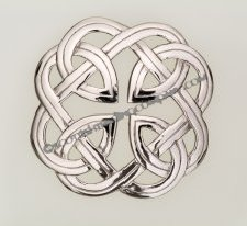 Interlace Plaid Brooch