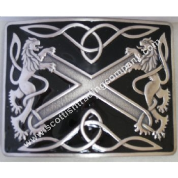 Highland Saltire Kilt Belt Buckle with Black
