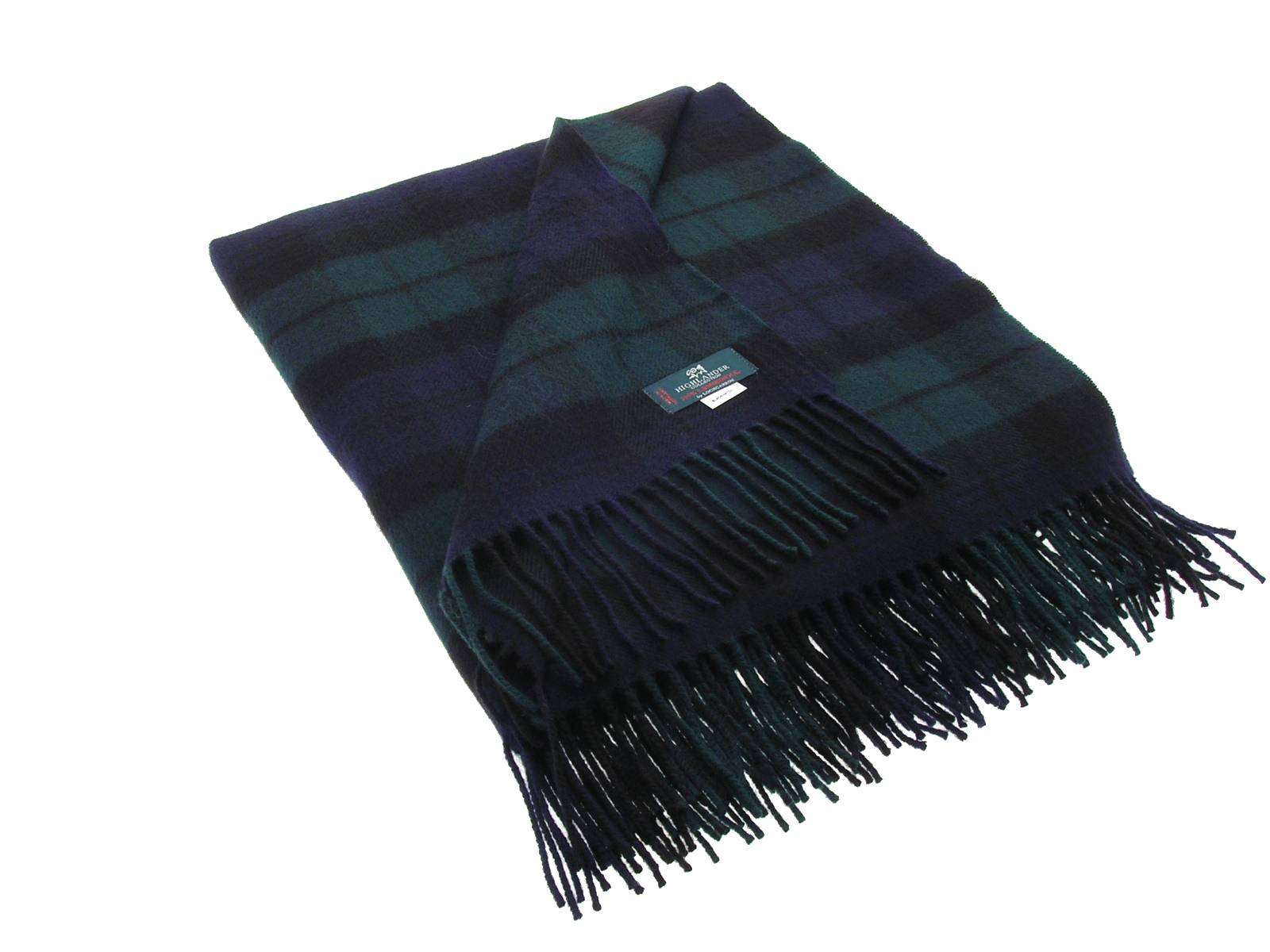Black Watch Modern Tartan Lambswool Blanket