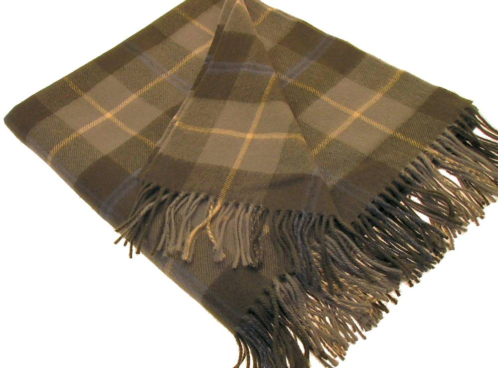Douglas Weathered Tartan Lambswool Blanket