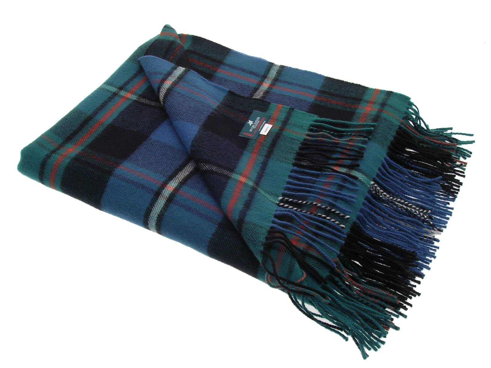 MacRae Hunting Ancient Tartan Lambswool Blanket