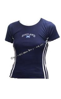 Womens Scotland Shirt in Navy Blue