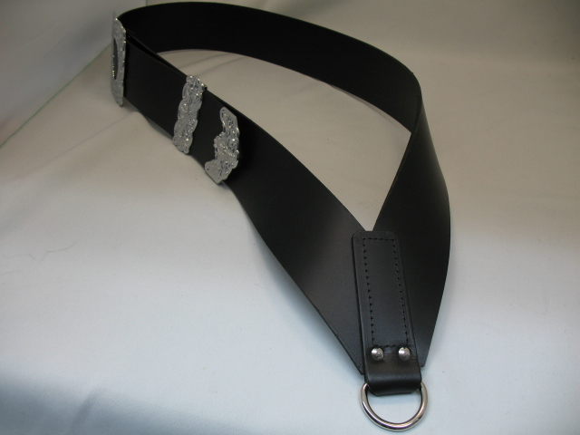 Drummers Smooth Leather Cross Belt