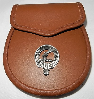 Elliot Clan Badge Leather Sporran