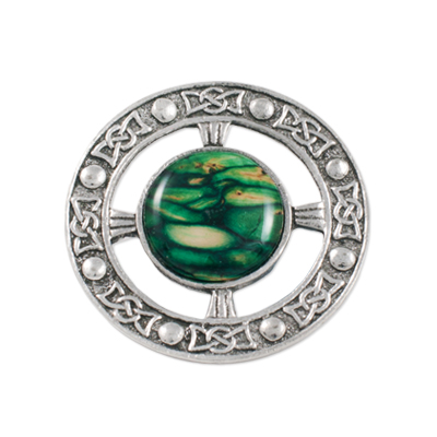 Heather Gem Celtic Brooch