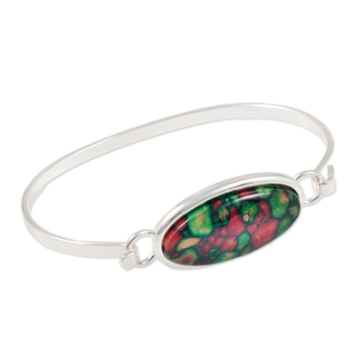 Heather Gem Oval Bangle