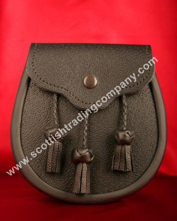 Classic Braided Three Tassel Leather Sporran