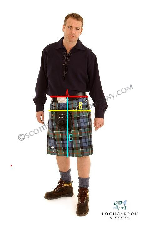 Childrens Kilt Measurements