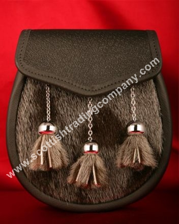 Fur Front Three Tassel Sporran