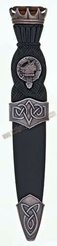 Celtic Stone Top Clan Sgian Dubh Antique Finish
