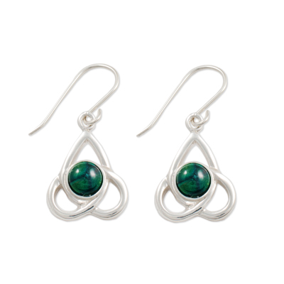 HeatherGem Celtic Silver Earrings