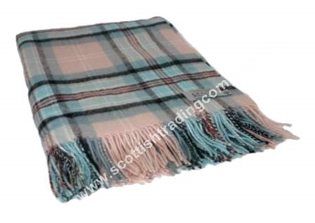 Diana Memorial Rose Tartan Lambswool Blanket
