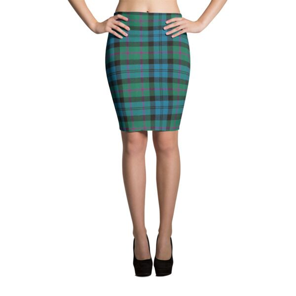 Custom Scottish Tartan Pencil Skirt
