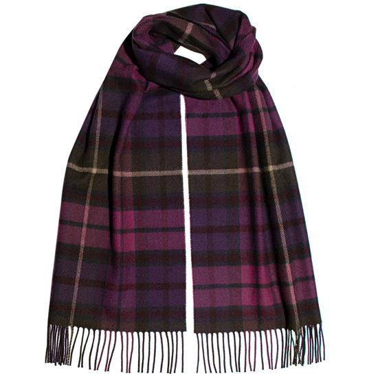 Buchanan Heather Lambswool Scarf