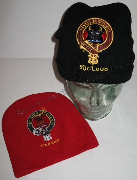 Embroidered Clan Badge Knit Hat