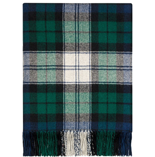Black Watch Dress Modern Tartan Lambswool Blanket