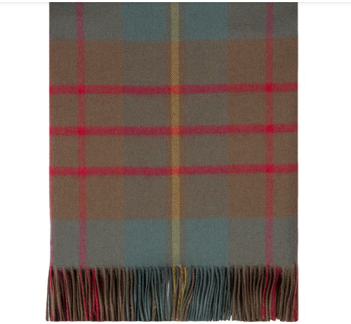 Cameron Hunting Weathered Tartan Lambswool Blanket