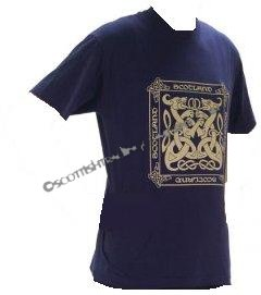 Celtic Hound T Shirt in Navy Blue