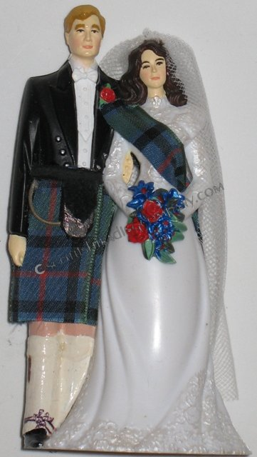 Bride with Sash Scottish Wedding Cake Topper