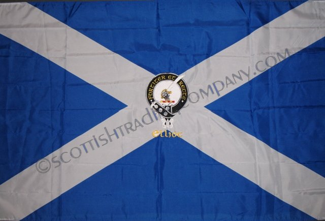 Embroidered Clan Badge Scottish Flag