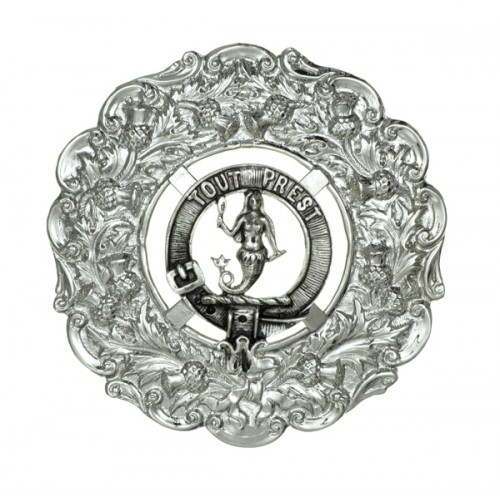 Clan Badge Plaid Brooch