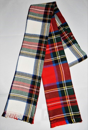 Scottish Handfasting Wrap Double Tartan - Click Image to Close