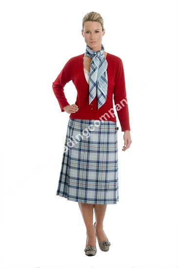 Beautiful Ladies Womens Tartan Pleated Billie Kilt Skirt Leather Buckled Straps
