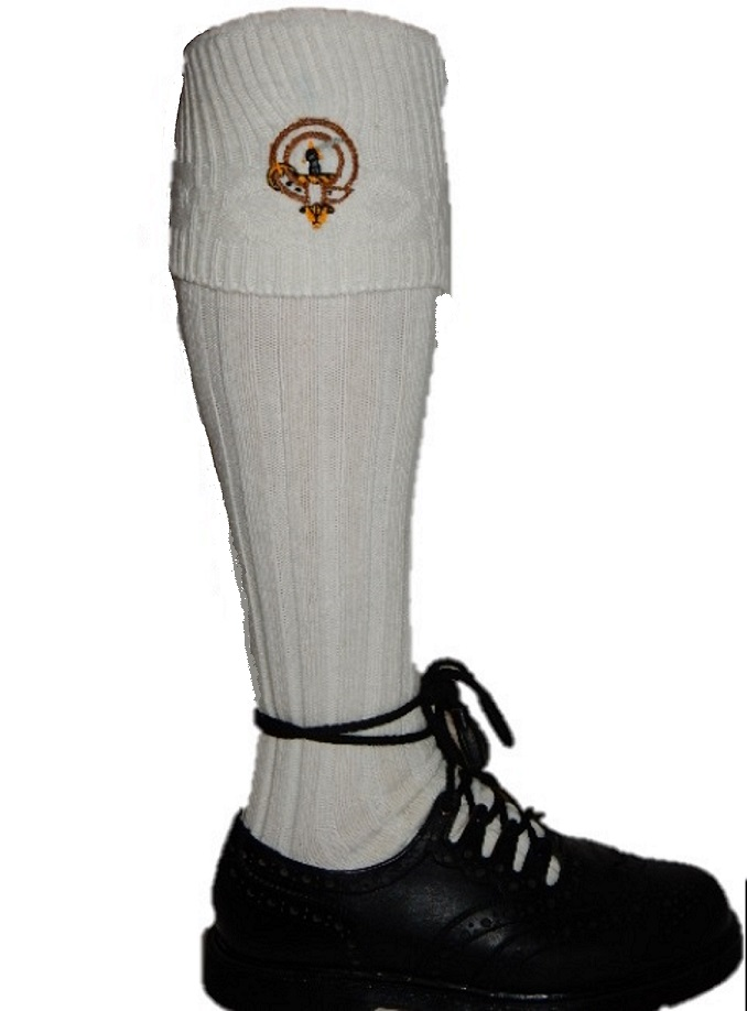 Embroidered Clan Badge Kilt Hose