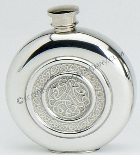 Celtic Rope Round Insert Flask
