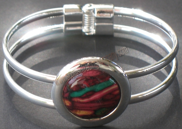Heather Gem Bangle