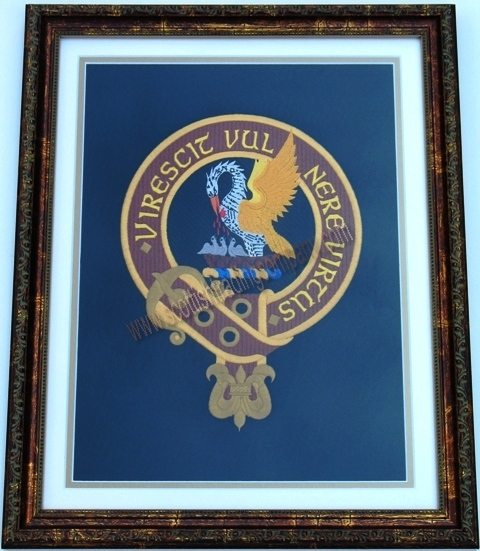 Embroidered Clan Badge Framed Picture
