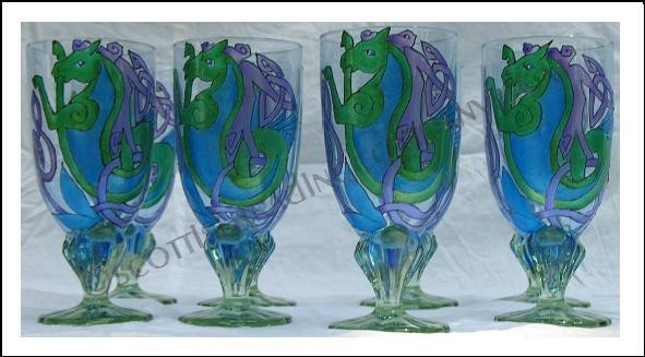 Celtic Waterhorse Goblets