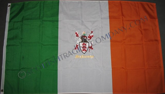Embroidered Ireland Coat of Arms Flag