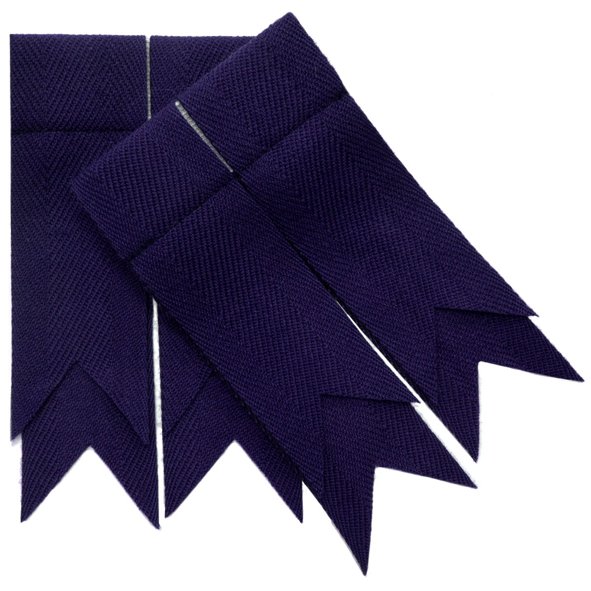 Purple Plain Coloured Garter Double Flashes