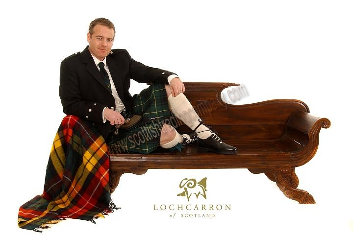 Argyll Outfit with 8 Yard 16oz Kilt in Standard Tartans