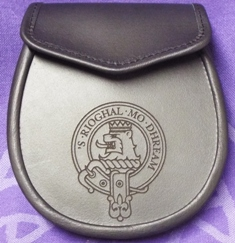 Custom Engraved Clan Badge Sporran