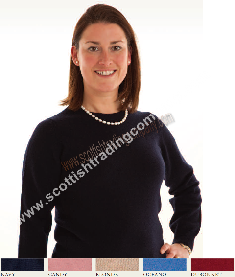 Ladies Crew Neck Lambswool Sweater