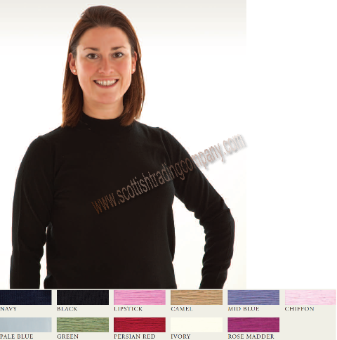 Mock Turtle Neck Merino Wool Sweater