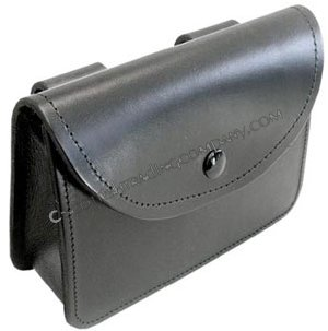 Black Leather Pouch Wallet - Large