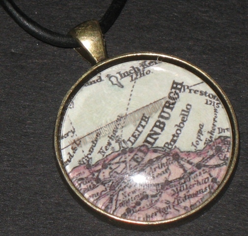 Scottish Map Pendant Custom Made