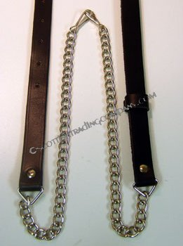 Regular Black Leather Sporran Chain Strap