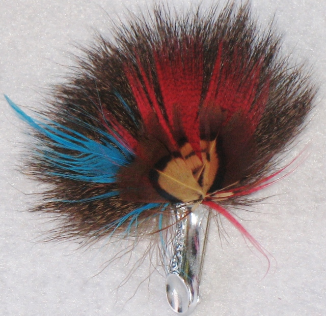 Scottish Roe Plume Brooch