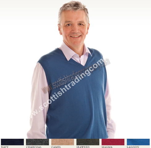 Men's Lambswool Vee Neck Sweater Vest