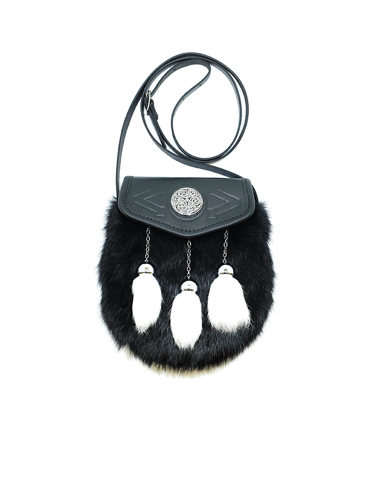 Scottish Ladies Fur Sporran Purse