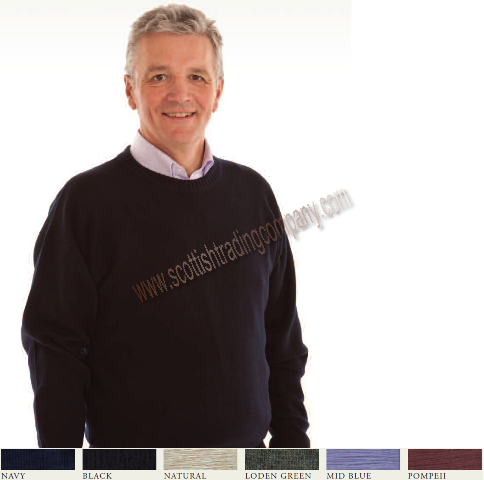 Men's Crew Neck Merino Wool Sweater