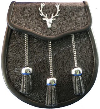Leather with Stag Badge