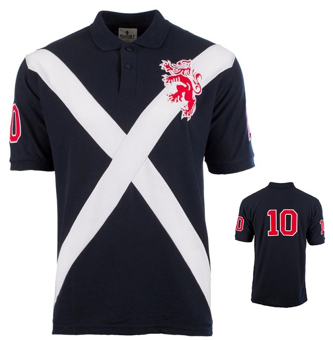 Scottish Lion and Saltire Polo Shirt