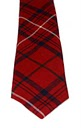Rose Clan Modern Red Tartan Tie