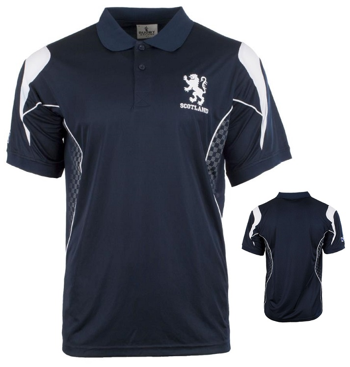 Scottish Lion Navy Sport Polo