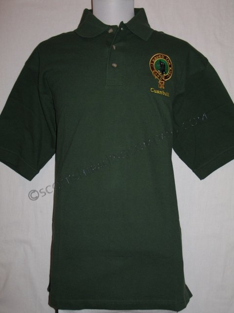 Embroidered Clan Badge Mens Polo Shirt